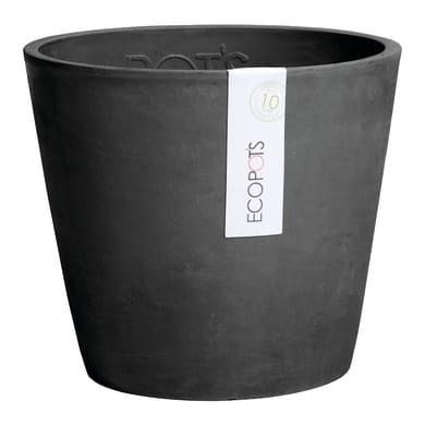 Barattolo Amsterdam ECOPOT'S in composito colore dark grey H 17.5 cm, Ø 20 cm