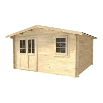 Casetta da giardino in legno Betty,  superficie interna 14.52 m² e spessore parete 45 mm