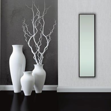 Specchio a parete rettangolare Milo nero 30x120 cm INSPIRE