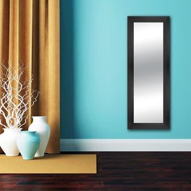 Specchio a parete rettangolare Osaka wengé 57x157 cm