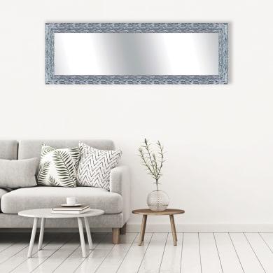 Specchio a parete rettangolare Teresa argento 68x168 cm