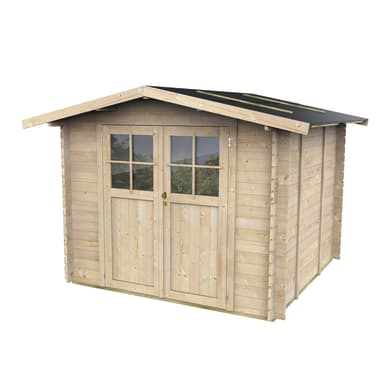 Casetta da giardino in legno Moena,  superficie interna 5.06 m² e spessore parete 25 mm