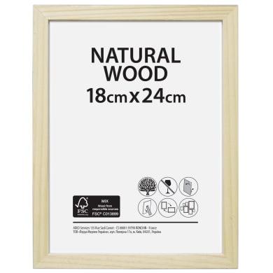 Cornice Natural wood naturale per foto da 18x24 cm