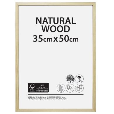 Cornice Natural wood naturale per foto da 35x50 cm