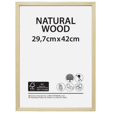 Cornice Natural wood naturale per foto da 29.7x42 cm