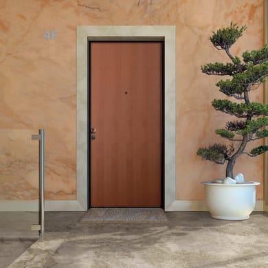 Porta blindata Strong noce L 80 x H 210 cm destra