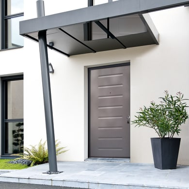 Porta blindata Silver grigio L 80 x H 210 cm sinistra