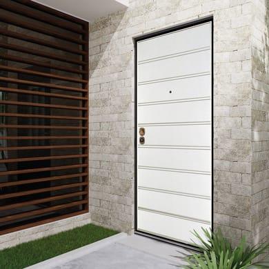 Porta blindata Outdoor bianco L 90 x H 210 cm destra
