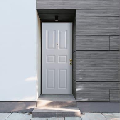 Porta blindata Steel bianco L 90 x H 210 cm sinistra