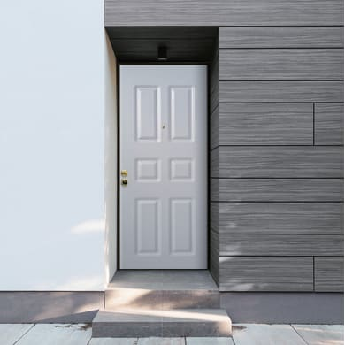 Porta blindata Steel bianco L 80 x H 210 cm destra