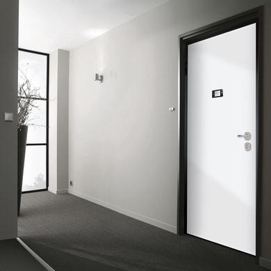 Porta blindata Schumy noce L 80 x H 210 cm sinistra