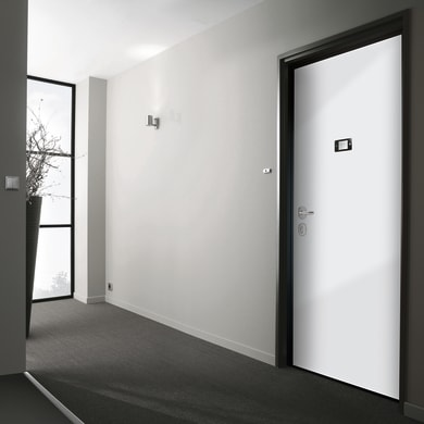 Porta blindata Schumy noce L 80 x H 210 cm destra