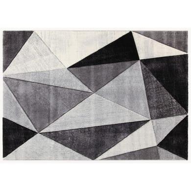 Tappeto Angles , grigio scuro, 133x190