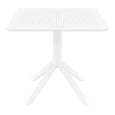 Tavolo quadrato SKY con piano in resina L 80