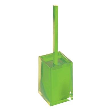 Porta scopino wc da appoggio Rainbow in resina verde