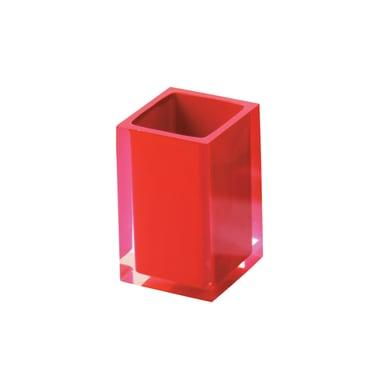Porta spazzolini Rainbow in resina rosso GEDY
