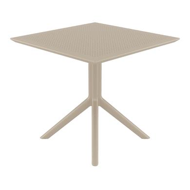 Tavolo da giardino quadrato SKY con piano in resina L 80