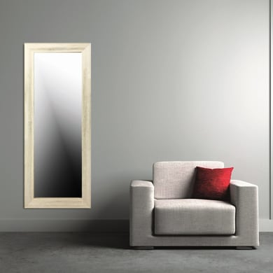 Specchio a parete rettangolare Kate bianco 50x150 cm