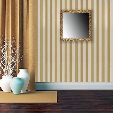 Specchio a parete quadrato 70/S oro 70x70 cm