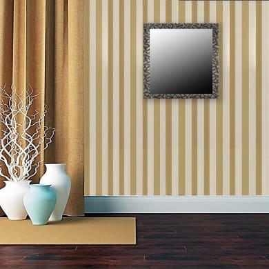 Specchio a parete quadrato 70/s argento 70x70 cm