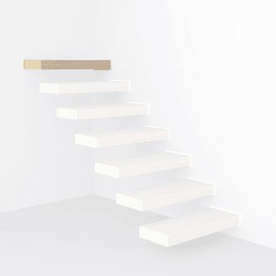 Gradino Wall Finale in legno faggio L 800 mm H 300 mm