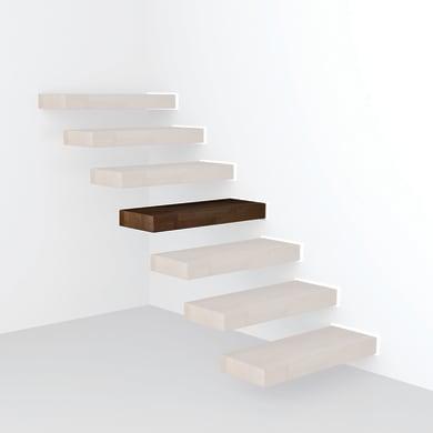 Gradino Wall in legno faggio L 800 mm H 300 mm