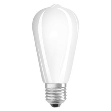 Lampadina LED filamento, E27, Goccia, Opaco, Luce calda, 4.5W=470LM (equiv 40 W), 280° , OSRAM
