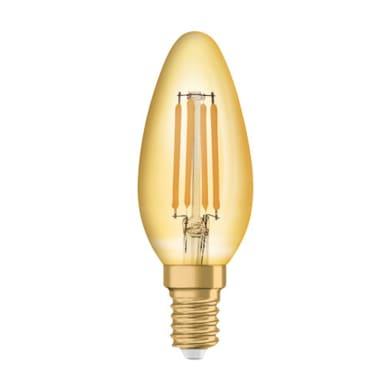 Lampadina LED E14 oliva bianco caldo 4.5W = 420LM (equiv 4.5W) 300° OSRAM