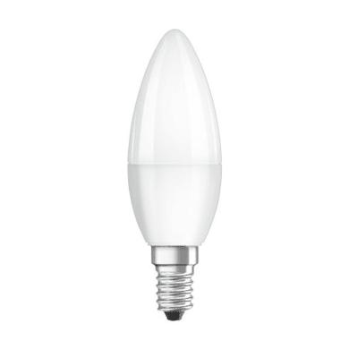 Lampadina LED, E14, Oliva, Opaco, Luce calda, 3W=250LM (equiv 25 W), 220° , OSRAM