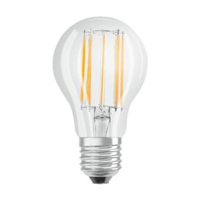 Lampadina LED filamento, E27, Goccia, Trasparente, Luce calda, 10W=1521LM (equiv 100 W), 300° , OSRAM