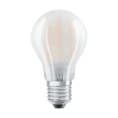 Lampadina LED filamento, E27, Goccia, Opaco, Luce calda, 4W=470LM (equiv 40 W), 300° , OSRAM