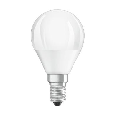 Lampadina LED, E14, Sferico, Opaco, Luce calda, 5W=470LM (equiv 40 W), 360° , OSRAM
