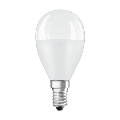 Lampadina LED, E14, Sferico, Opaco, Luce calda, 8W=806LM (equiv 60 W), 150° , OSRAM