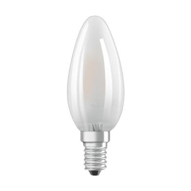 Lampadina LED filamento, E14, Oliva, Opaco, Luce naturale, 4W=470LM (equiv 40 W), 300° , OSRAM