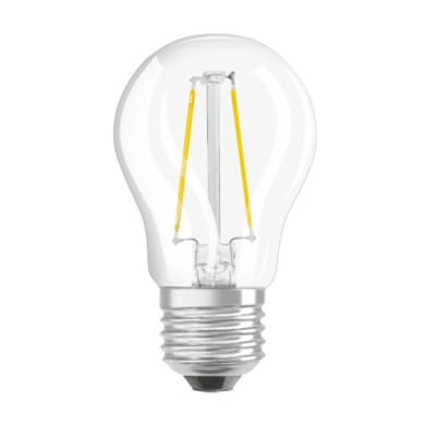 Lampadina LED filamento, E27, Sferico, Trasparente, Luce calda, 2.8W=250LM (equiv 25 W), 320° , OSRAM