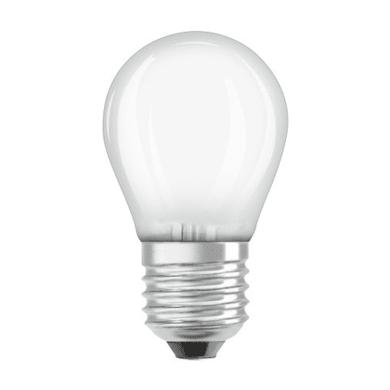 Lampadina LED filamento, E27, Sferico, Opaco, Luce calda, 1.5W=136LM (equiv 15 W), 300° , OSRAM