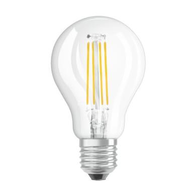 Lampadina LED filamento, E27, Sferico, Trasparente, Luce calda, 7W=806LM (equiv 60 W), 360° , OSRAM