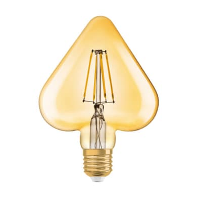 Lampadina LED E27 cuore bianco caldo 4.5W = 470LM (equiv 4.5W) 270° OSRAM
