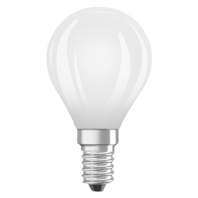 Lampadina LED filamento, E14, Sferico, Opaco, Luce calda, 2.8W=250LM (equiv 25 W), 320° , OSRAM