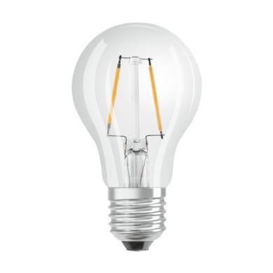 Lampadina LED filamento, E27, Goccia, Trasparente, Luce calda, 2.8W=250LM (equiv 25 W), 320° , OSRAM