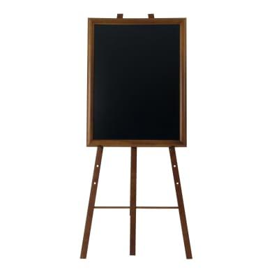 Lavagna Cavalletto in legno Wengé h 165 cm beige 11x170 cm