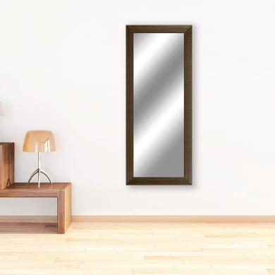 Specchio a parete rettangolare 2080 wengé 70x180 cm