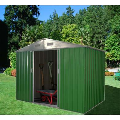 Casetta da giardino in metallo Ruse,  superficie interna 7.54 m² e spessore parete 0.27 mm