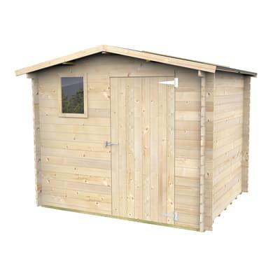 Casetta da giardino in legno Lucy,  superficie interna 3.9 m² e spessore parete 19 mm