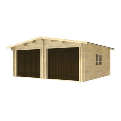 Garage in legno Garage doppio con Basculante 28.25 m²