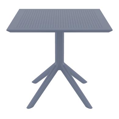 Tavolo da giardino quadrato Sky con piano in resina L 80 x P 80 cm