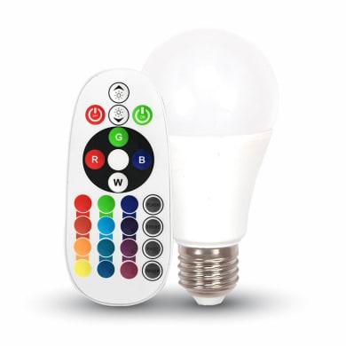 Lampadina LED, E27, Goccia, Opaco, RGB, 6W=470LM (equiv 35 W), 200°