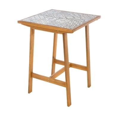 Tavolo da pranzo per giardino quadrato Soho con piano in ceramica L 72 x P 72 cm