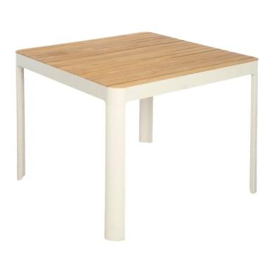 Tavolo da pranzo per giardino quadrato Portals con piano in legno L 95 x P 95 cm