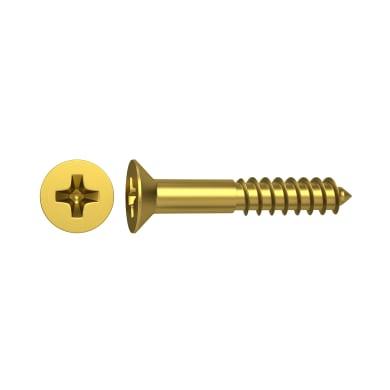Vite per legno STANDERS impronta phillips testa svasata L 20 mm Ø 4 mm, 15 pezzi